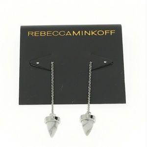 Rebecca Minkoff White Howlite Earrings